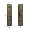引違い錠 キー付き KH−54