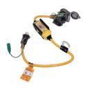 ハタヤ BFX延長コード 屋外用 漏電遮断器付 3口コンセントタイプ 0.7m イエロー BFX−013KC2