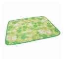 シャーベットタッチ キルティングマット 60×80 なついろ模様 グリーン L