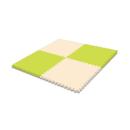 どれでもジョイント 防音マット 45×45 4枚入 グリーン/ベージュ JEM−4520