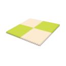 どれでもジョイント 防音マット 60×60 4枚入 グリーン/ベージュ JEM−6020