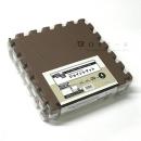 どれでもジョイント 防音マット 30×30cm 4枚入 ブラウン/グレイッシュベージュ VIEM−3020 BR/GB