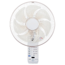 ユアサ 壁掛扇風機 人感センサー付き YTW−M373CFR ホワイト