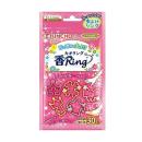 花の香りの虫よけ 香リング ピンク 30個入