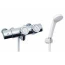 LIXIL プッシュ式サーモスタット付シャワーバス水栓 (エコフルシャワー) RBF−815