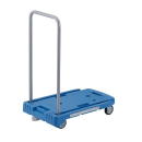 TRUSCO 小型樹脂製運搬車 こまわり君 樹脂製ストッパー付き ブルー