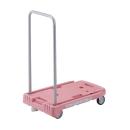 小型樹脂製運搬車 こまわり君 ブレーキ付 ピンク