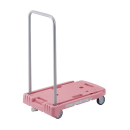 TRUSCO 小型樹脂製運搬車 こまわり君 樹脂製ストッパー付き ピンク