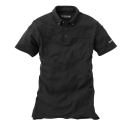 イーブンリバー ソフトドライポロシャツ 半袖 L ブラック NR416