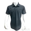 和玄屋×イーブンリバー ドライシールポロシャツ 半袖 3L チャコール