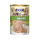 愛犬元気 缶 ビーフ・緑黄色野菜入り 375g