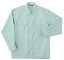 ホシ服装 5330 長袖シャツ アースグリーン LL