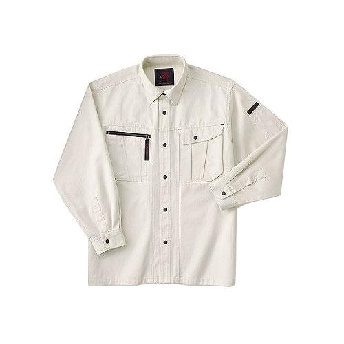 ホシ服装 653 長袖シャツ 1アイボリー L