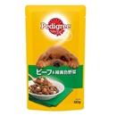 ペディグリー パウチ 成犬用 ビーフ&緑黄色野菜 130g