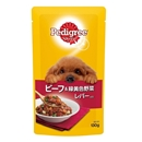 ペディグリー パウチ 成犬用 ビーフ&緑黄色野菜 レバー入り 130g