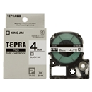 キングジム テプラ PRO テープカートリッジ 白ラベル 4mm SS4K