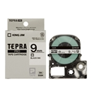 キングジム テプラ PRO テープカートリッジ 白ラベル 9mm SS9K