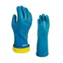 ミエローブ ハイブリッド防寒 ブルー L ビニール手袋