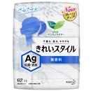 ロリエ パンティライナー きれいスタイル AG抗菌・消臭  無香料 通気性タイプ 62コ入