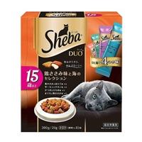 シーバ デュオ 15歳以上用 鶏ささみ味と海のセレクション 200g/20g×10袋