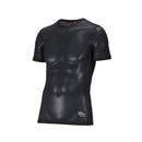 クレーターメッシュ 半袖シャツ L ブラック