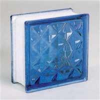 ガラスブロック95 ダイヤモンド ライトブルー(1カートン6個入)