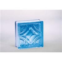 ガラスブロック95 ウ゛ェスタ ライトブルー(1カートン6個入)