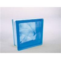 ガラスブロック95 ウェーブ ライトブルー(1カートン6個入)