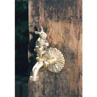 アニマル蛇口 ヒマワリ 真鍮
