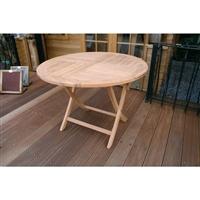 折り畳み丸テーブル(無塗装)
