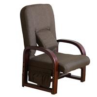 腰サポートまごころ座椅子DX NUZアスカDBR 組み立て式