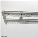 静音カーテンレール 伸縮タイプ ダブル 4.0m ホワイト AJ606静音R