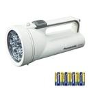パナソニック 乾電池エボルタ付き LED強力ライト 白 F−KJWBS01−W