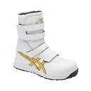 アシックス 作業靴 ウィンジョブ CP401 0194 ホワイト×ゴールド 26.5cm