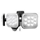 ムサシ RITEX 14W×3灯フリーアーム式LEDセンサーライト LED−AC3042 約幅32.2×奥15×高13.5 cm