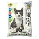 尿の色が見やすい 紙の猫砂 白粒 13.5L