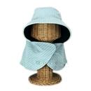 のらスタイル しまえるネット付き虫よけ帽 ミントブルー NS−812