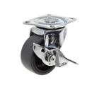 ハンマーキャスター Gシリーズ 旋回式エラストマー車輪 (PPホイール) 50mm ストッパーエラストマー 415G−L50
