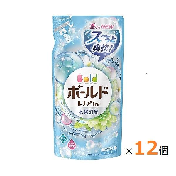 ボールド 柔軟剤入り洗剤 液体 プラチナピュアクリーンの香り つめかえ用 715g (箱売)