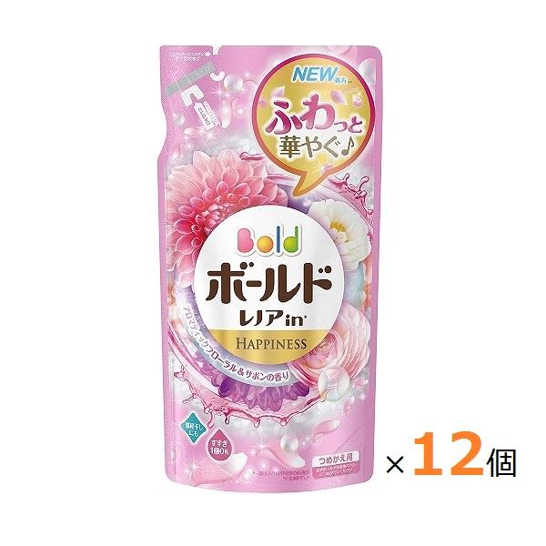 ボールド 柔軟剤入り洗剤 液体 プラチナフローラル&サボンの香り つめかえ用 715g (箱売)