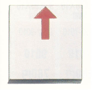 マイゾックス アースプレート半上矢印貼付け