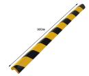 安心クッションL字型90cm 小 トラ柄 ブラック/イエロー