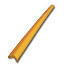 安心クッションL字型90cm小イエロー