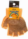 Z−65 のびのびすべり止め手袋 指切りオレンジF