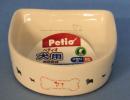 犬用陶器食器 メモリ付 ボーン S