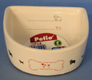 犬用陶器食器 メモリ付 ボーン M