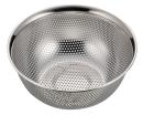 アクアシャイン ステンレス製パンチボール型ザル18�p(足付)