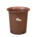 陶鉢深型6号 えび茶