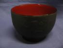 レンジ汁椀 うさぎ彫り