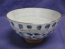 飯碗大平 帯タコ唐草 ブルー